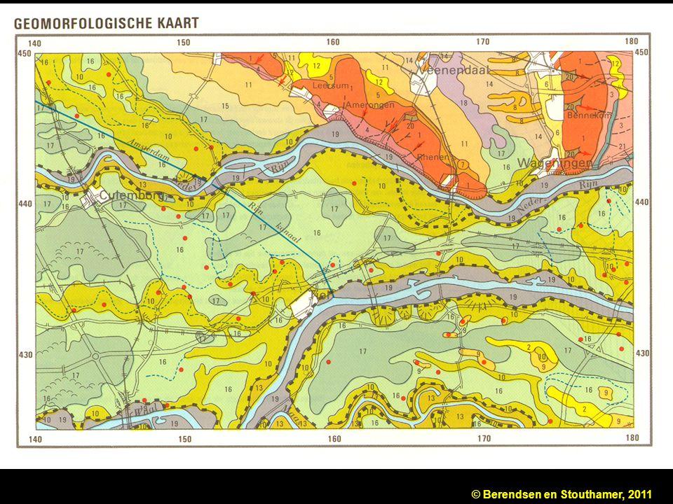 Fragment van de geomorfologische kaart van Nederland, schaal 1: 50
