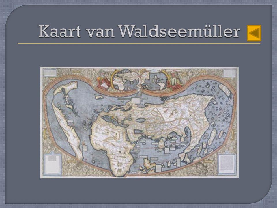 Kaart van Waldseemüller