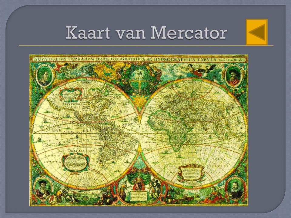 Kaart van Mercator