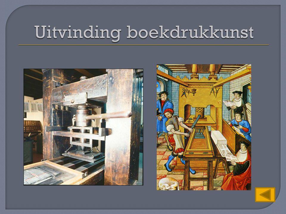 Uitvinding boekdrukkunst
