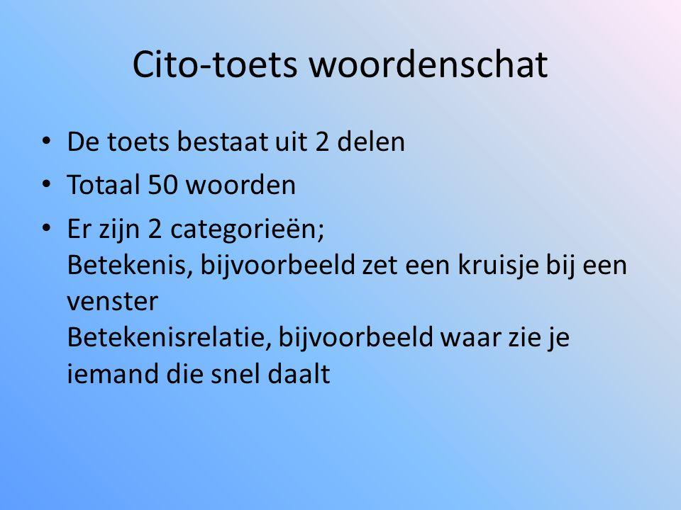 Cito-toets woordenschat