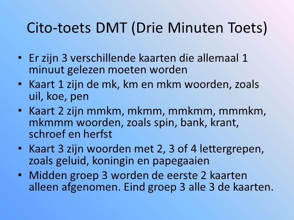 Cito-toets DMT (Drie Minuten Toets)