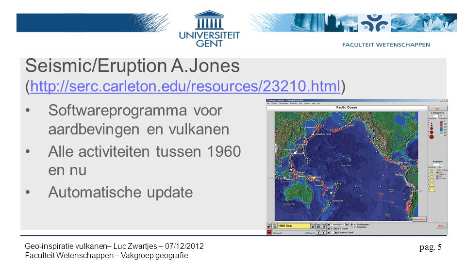 Seismic/Eruption A. Jones (http://serc. carleton. edu/resources/23210