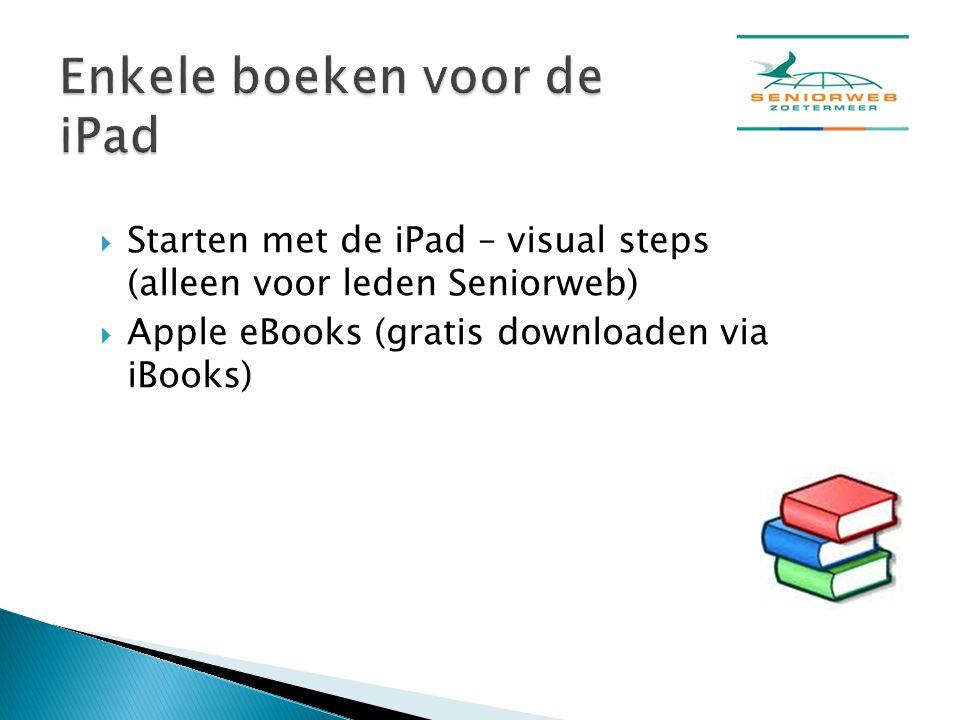 Enkele boeken voor de iPad
