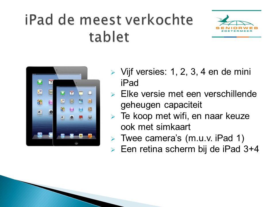 iPad de meest verkochte tablet