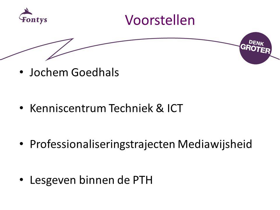 Voorstellen Jochem Goedhals Kenniscentrum Techniek & ICT