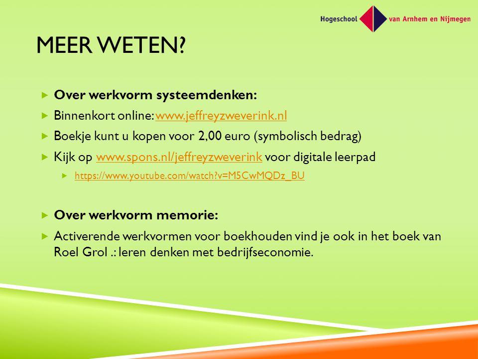 Meer weten Over werkvorm systeemdenken:
