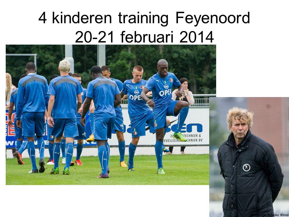 4 kinderen training Feyenoord 20-21 februari 2014