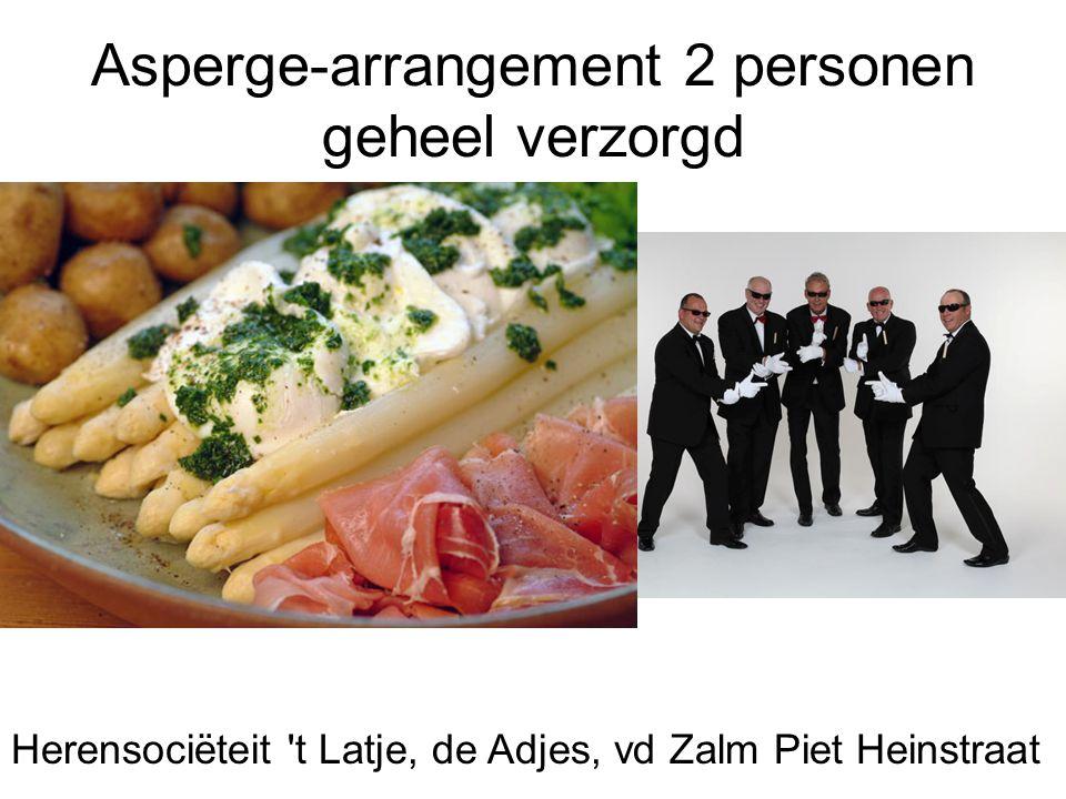 Asperge-arrangement 2 personen geheel verzorgd