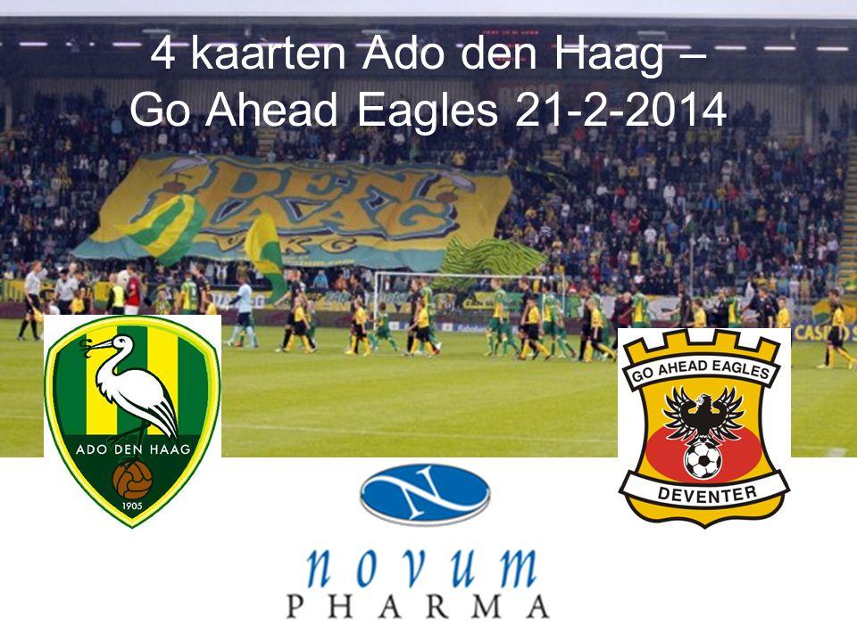 4 kaarten Ado den Haag – Go Ahead Eagles 21-2-2014