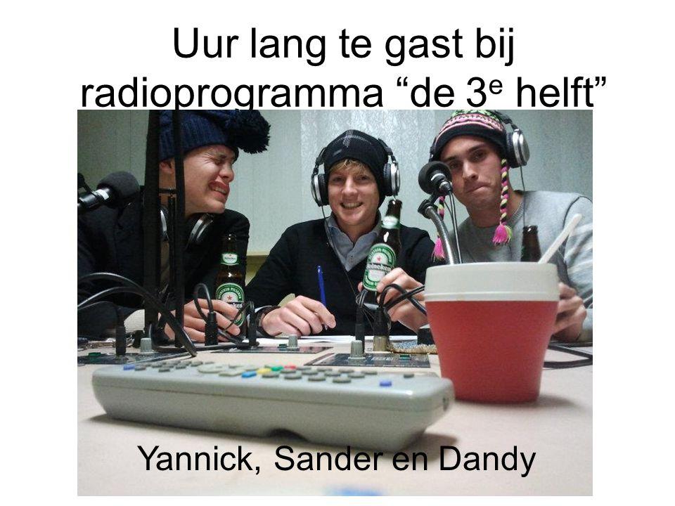 Uur lang te gast bij radioprogramma de 3e helft
