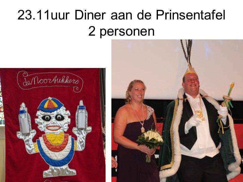 23.11uur Diner aan de Prinsentafel 2 personen