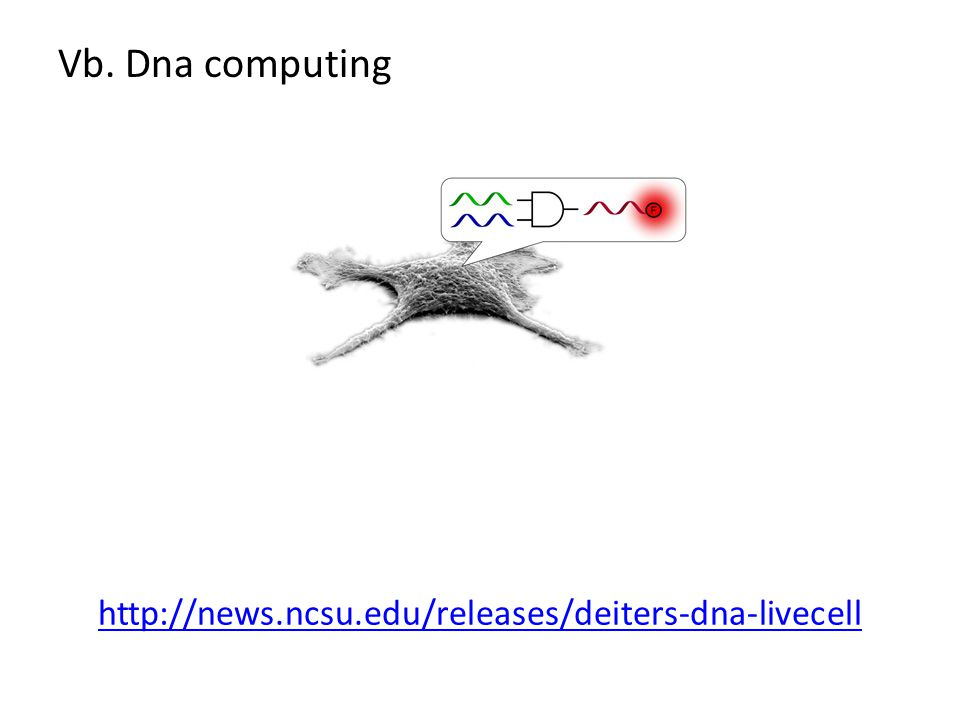 Vb. Dna computing http://news.ncsu.edu/releases/deiters-dna-livecell