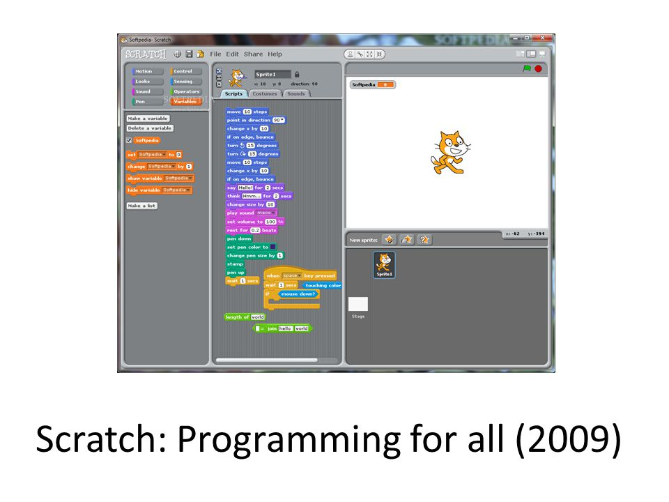 Scratch: Programming for all (2009)