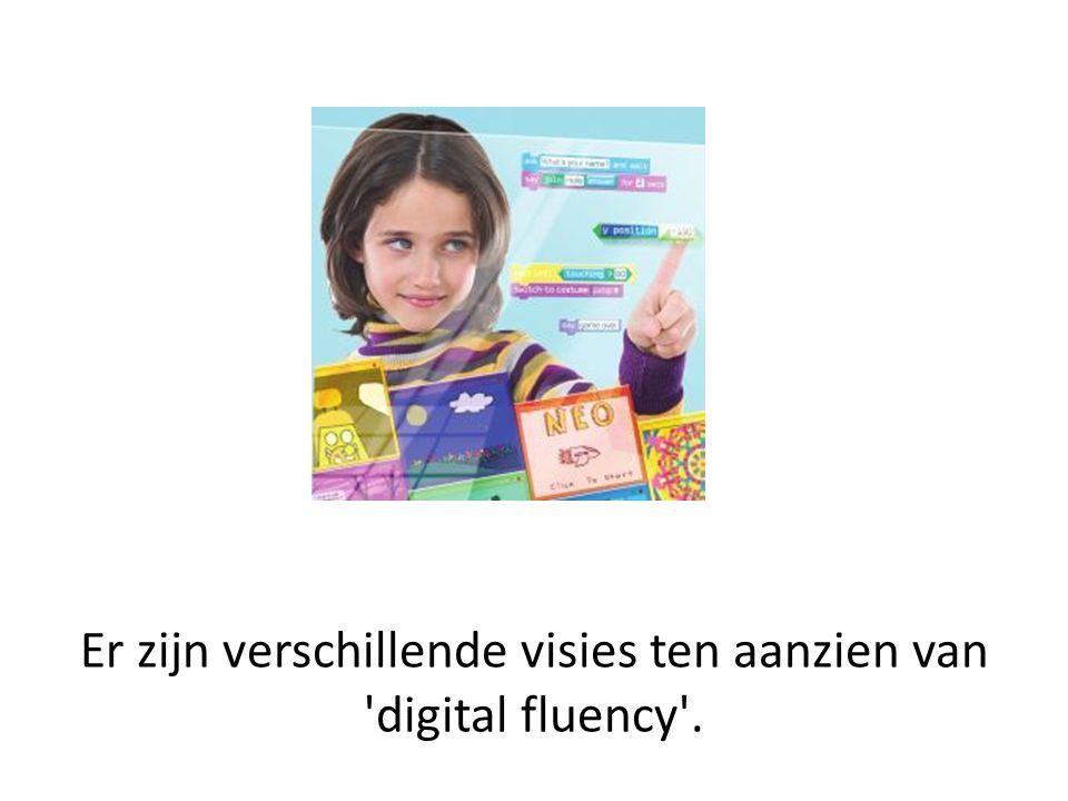 Er zijn verschillende visies ten aanzien van digital fluency .