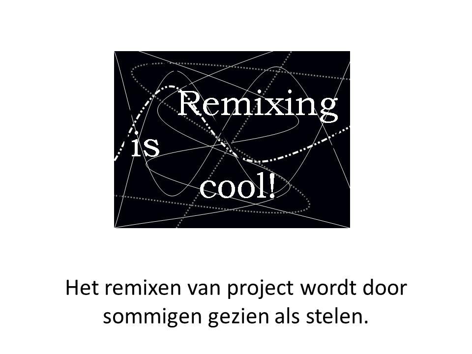 Het remixen van project wordt door sommigen gezien als stelen.