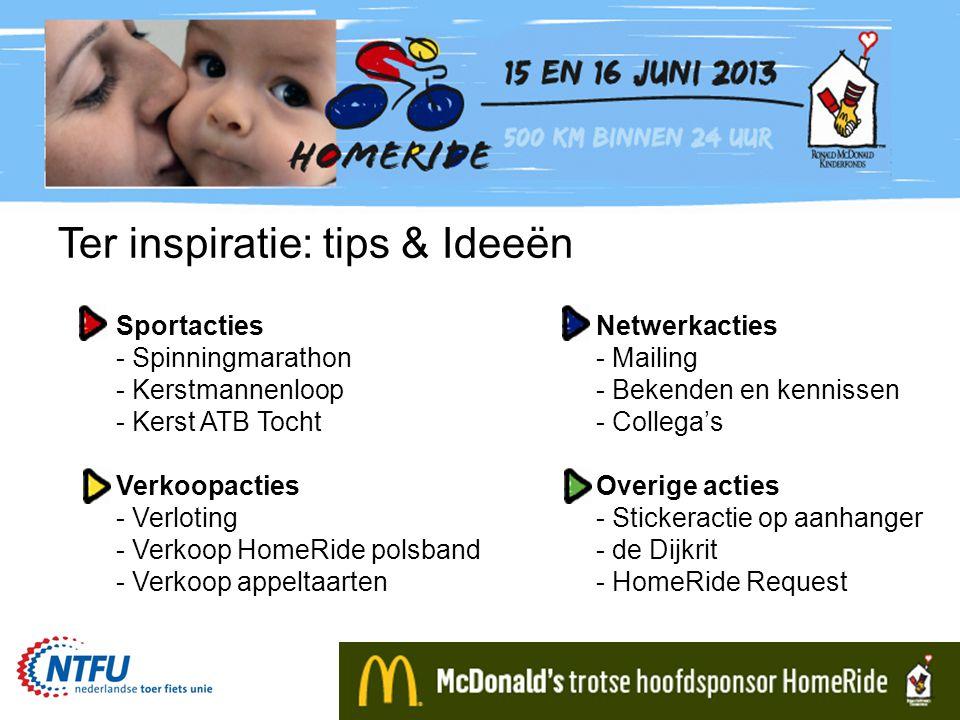 Ter inspiratie: tips & Ideeën