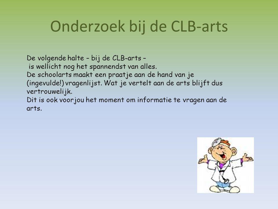 Onderzoek bij de CLB-arts