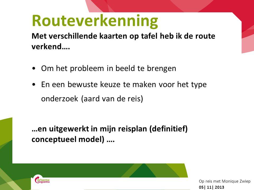 Routeverkenning Met verschillende kaarten op tafel heb ik de route verkend…. Om het probleem in beeld te brengen.
