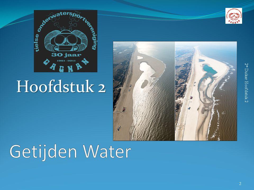 Hoofdstuk 2 2* Duiker Hoofdstuk 2 Getijden Water