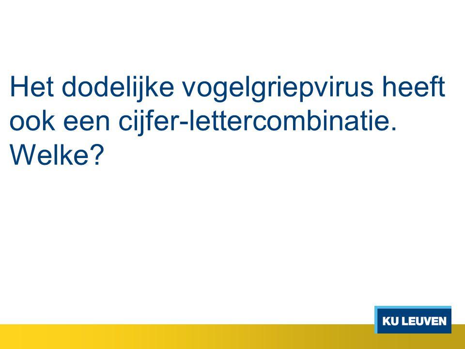 Het dodelijke vogelgriepvirus heeft ook een cijfer-lettercombinatie
