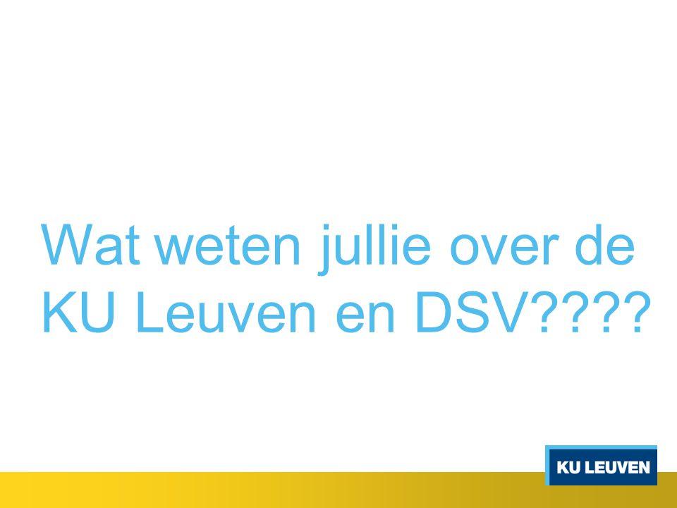 Wat weten jullie over de KU Leuven en DSV