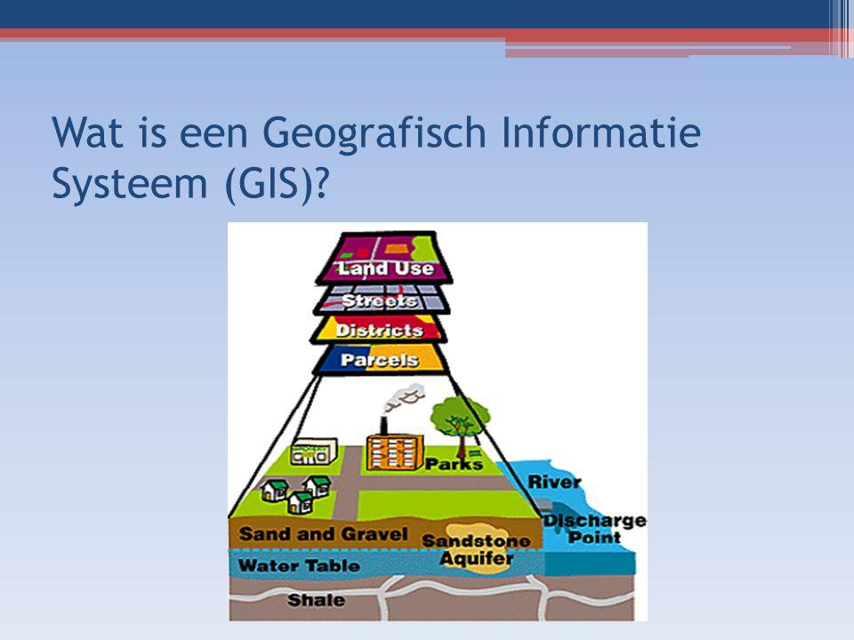 Wat is een Geografisch Informatie Systeem (GIS)