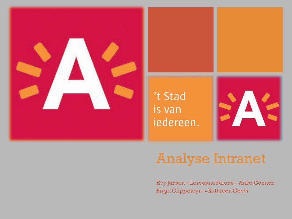 Analyse Intranet Evy Jansen – Loredana Falone – Anke Coenen