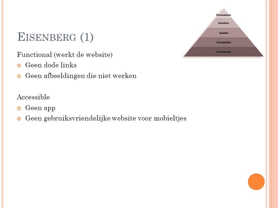 Eisenberg (1) Functional (werkt de website) Geen dode links