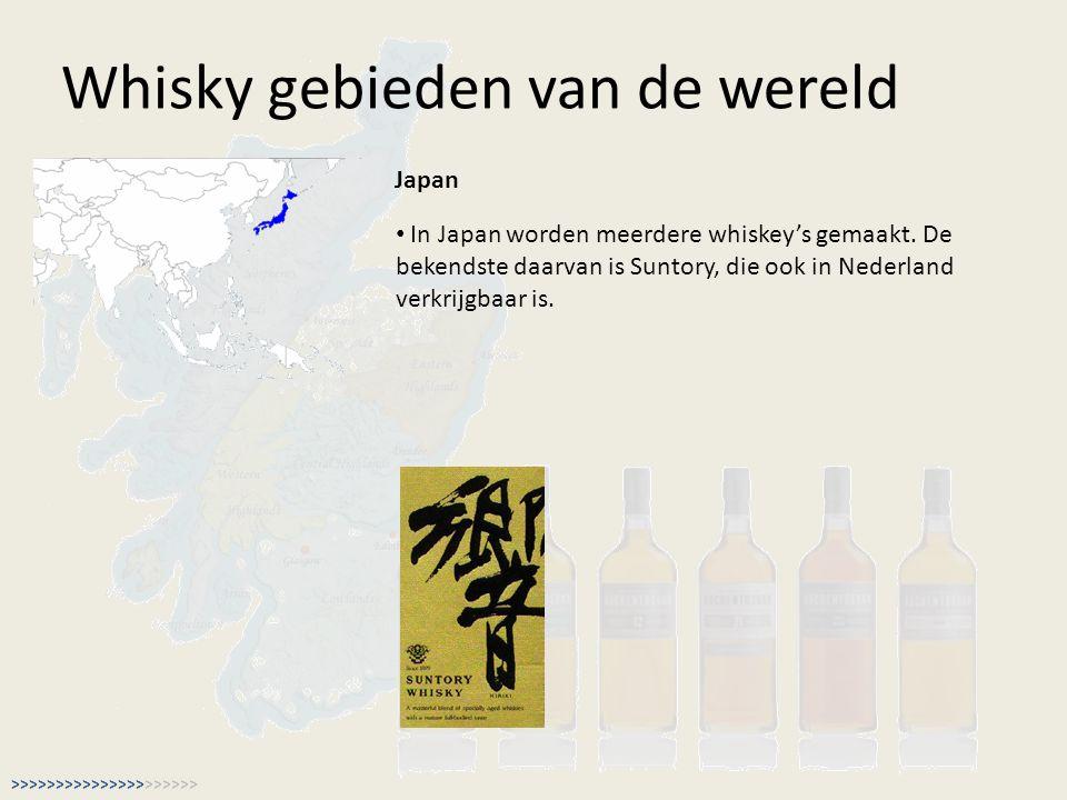 Whisky gebieden van de wereld