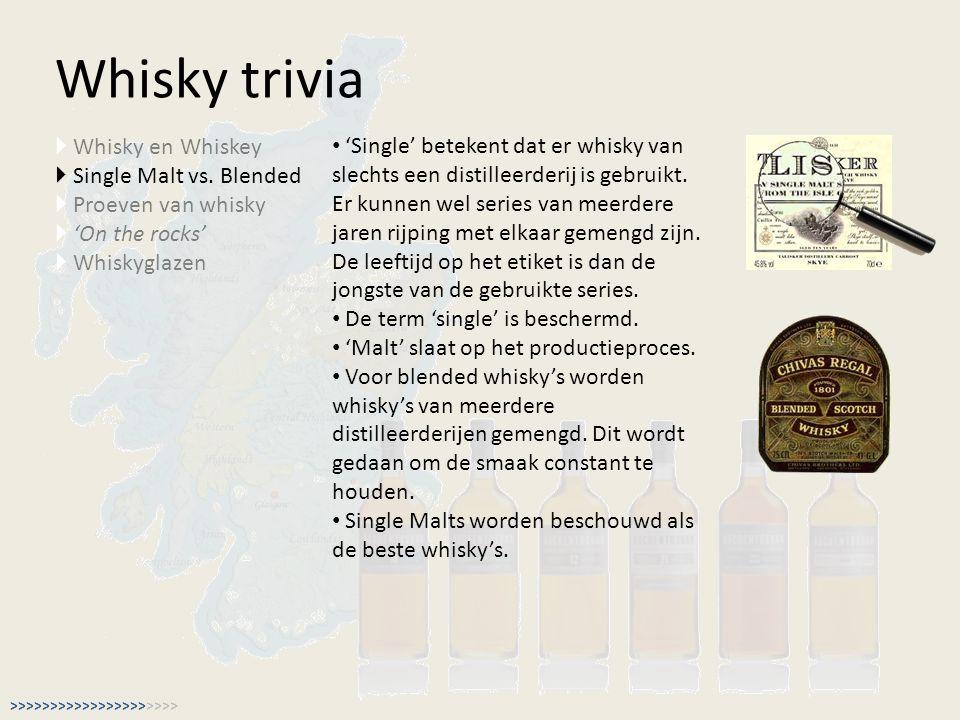 Whisky trivia Whisky en Whiskey
