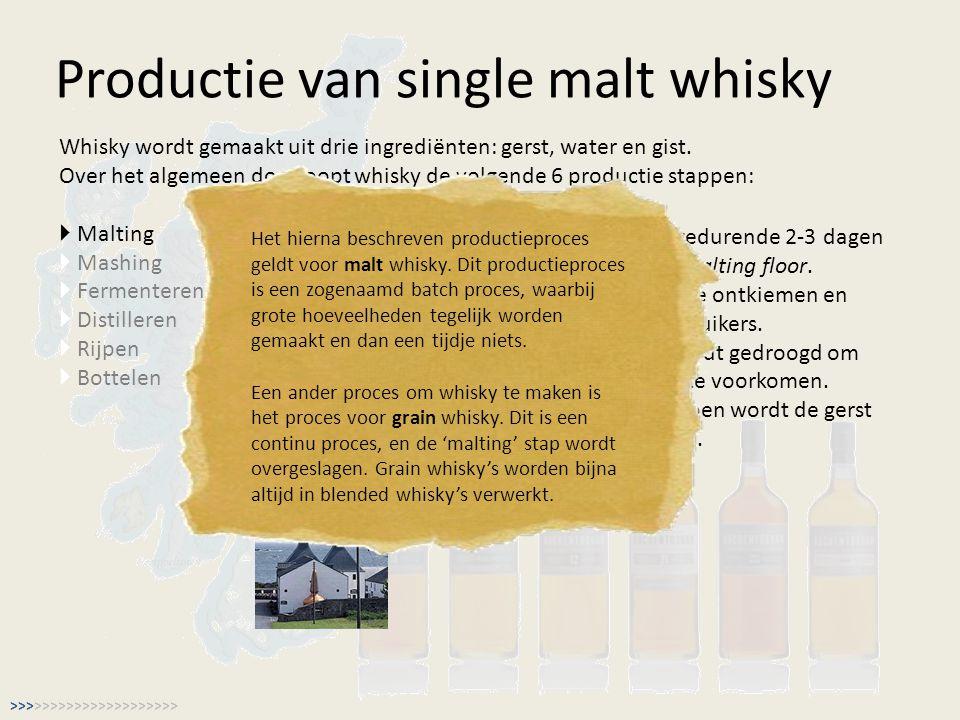 Productie van single malt whisky