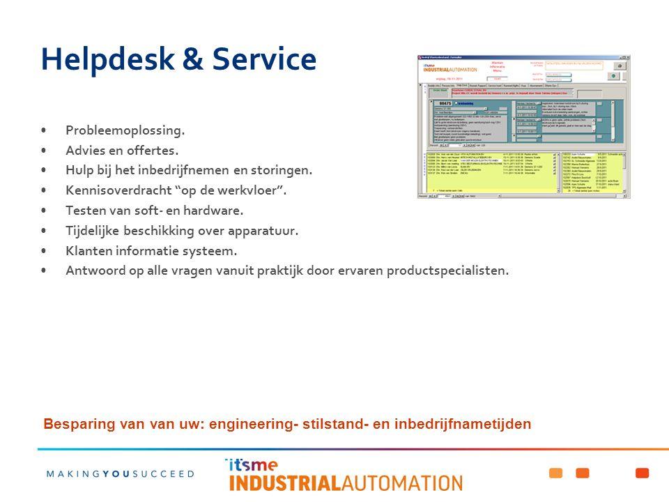 Helpdesk & Service Probleemoplossing. Advies en offertes. Hulp bij het inbedrijfnemen en storingen.