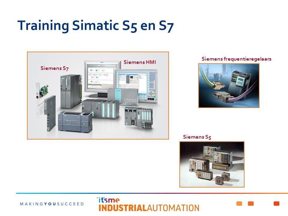 Training Simatic S5 en S7 Siemens frequentieregelaars Siemens HMI
