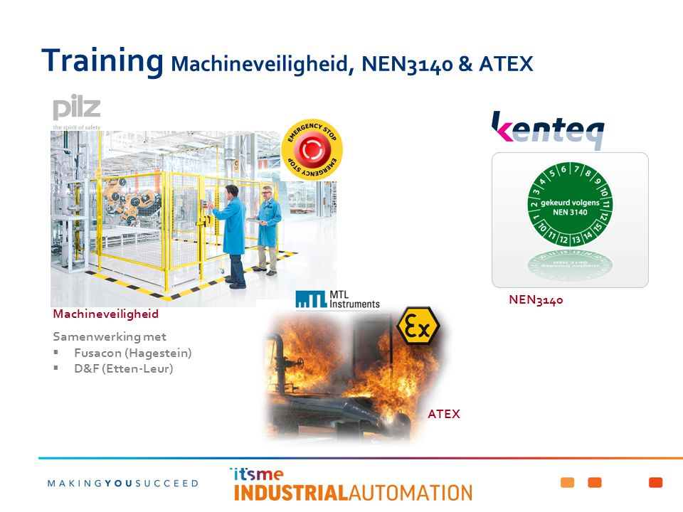 Training Machineveiligheid, NEN3140 & ATEX