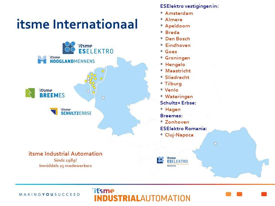 itsme Industrial Automation Inmiddels 25 medewerkers
