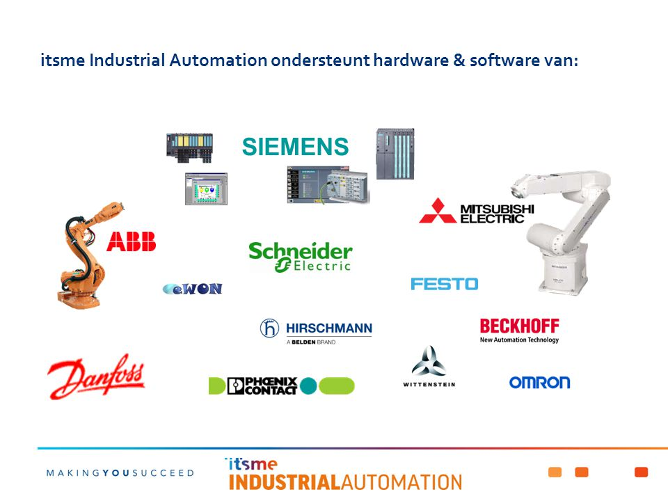 itsme Industrial Automation ondersteunt hardware & software van: