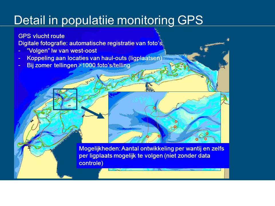 Detail in populatiie monitoring GPS