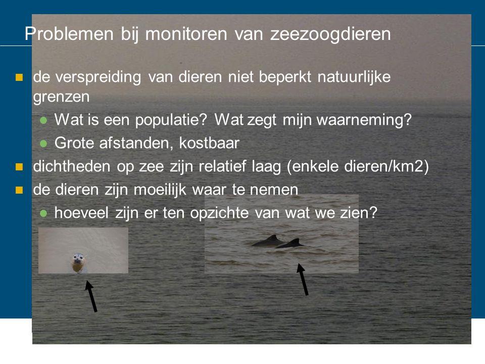 Problemen bij monitoren van zeezoogdieren