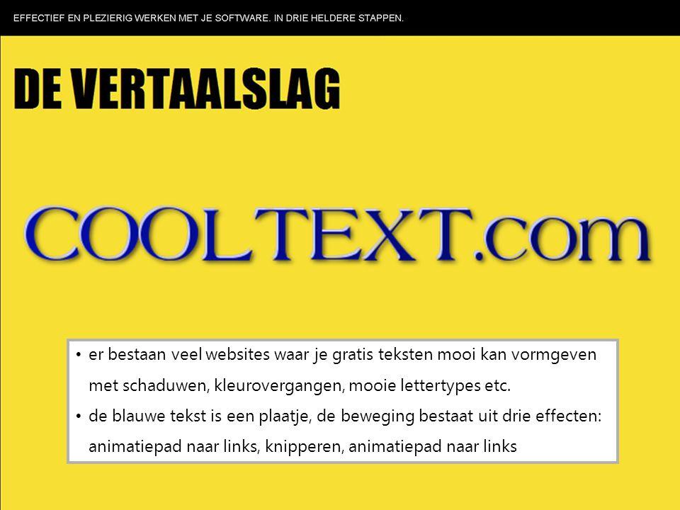 er bestaan veel websites waar je gratis teksten mooi kan vormgeven