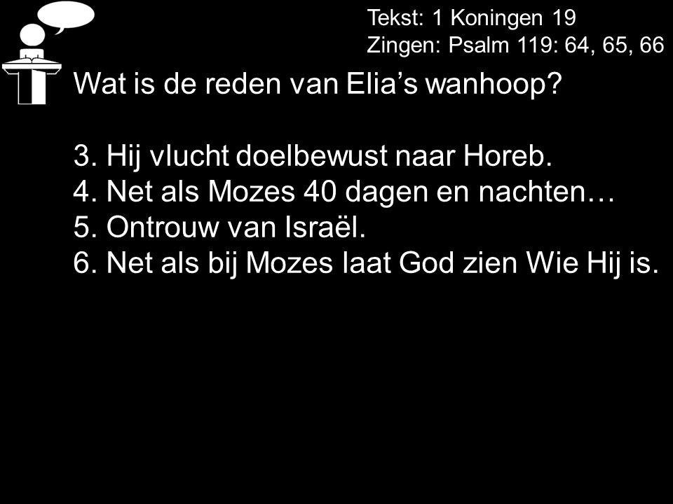 Wat is de reden van Elia's wanhoop