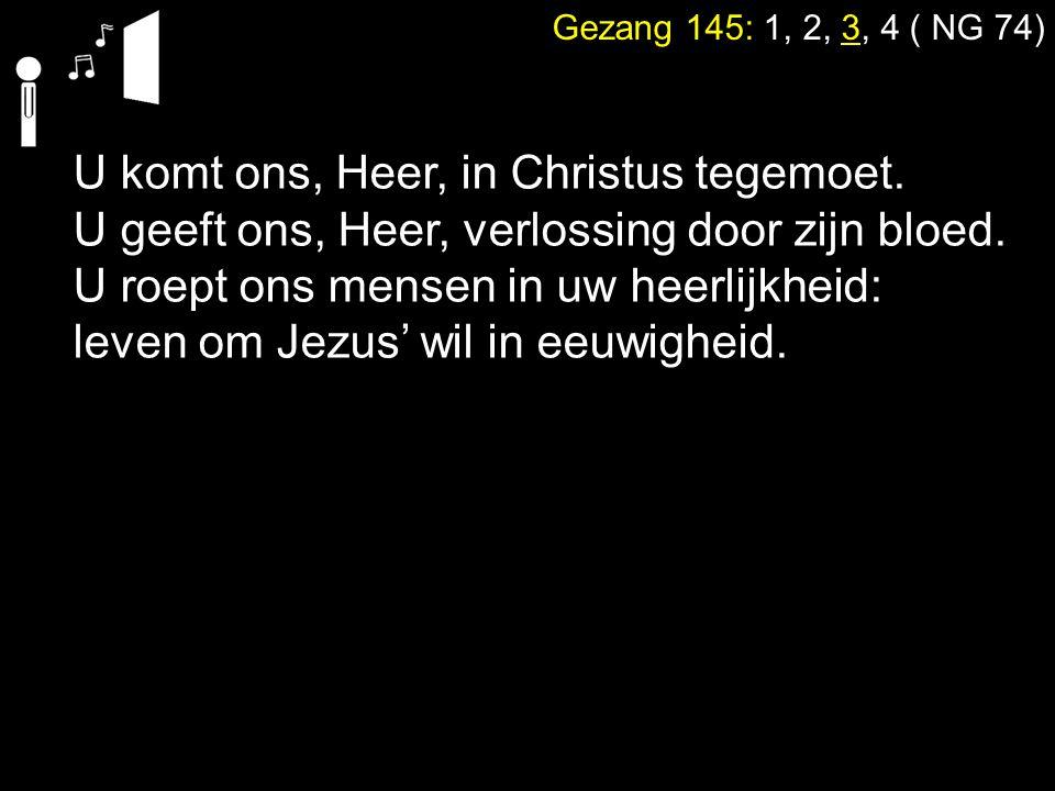 U komt ons, Heer, in Christus tegemoet.