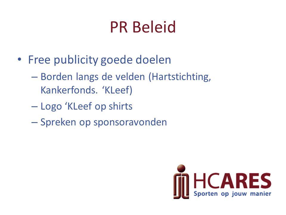 PR Beleid Free publicity goede doelen