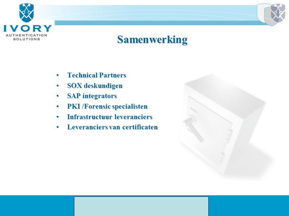 Samenwerking Technical Partners SOX deskundigen SAP integrators