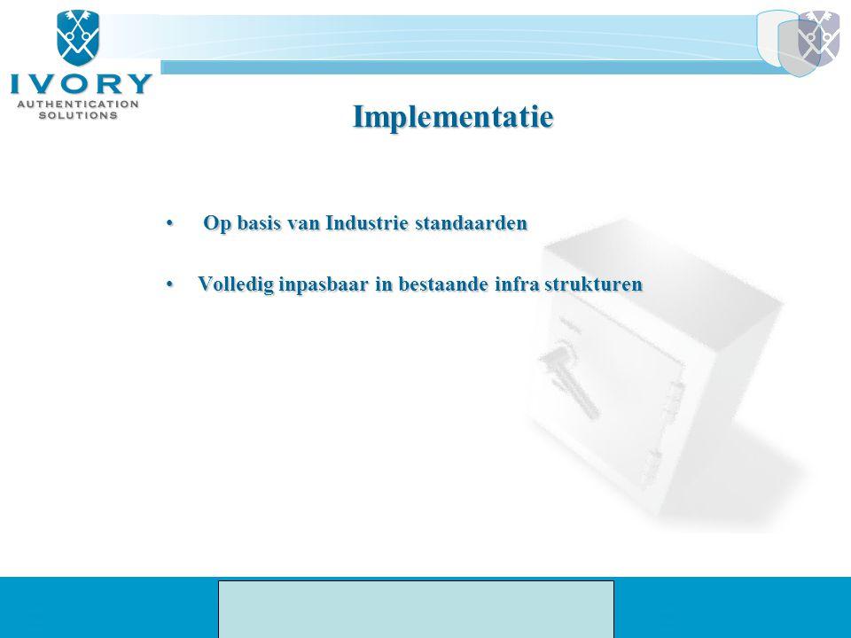 Implementatie Op basis van Industrie standaarden