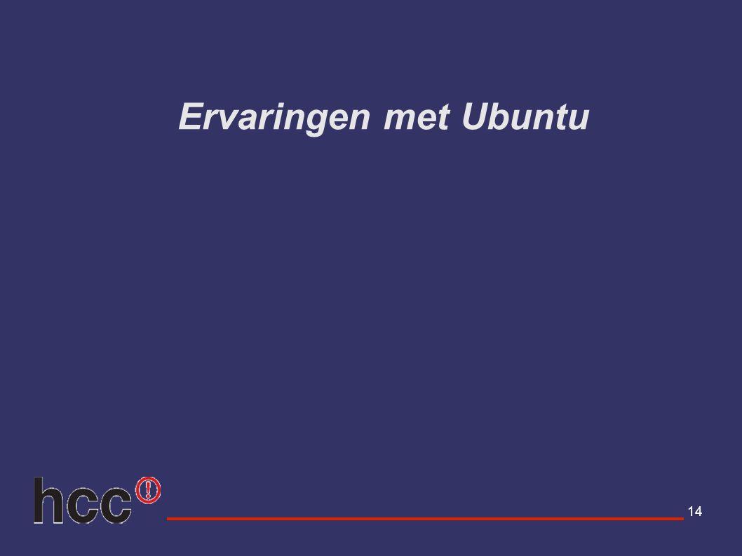 Ervaringen met Ubuntu