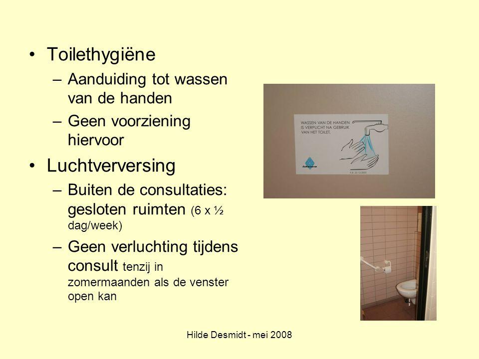 Toilethygiëne Luchtverversing Aanduiding tot wassen van de handen