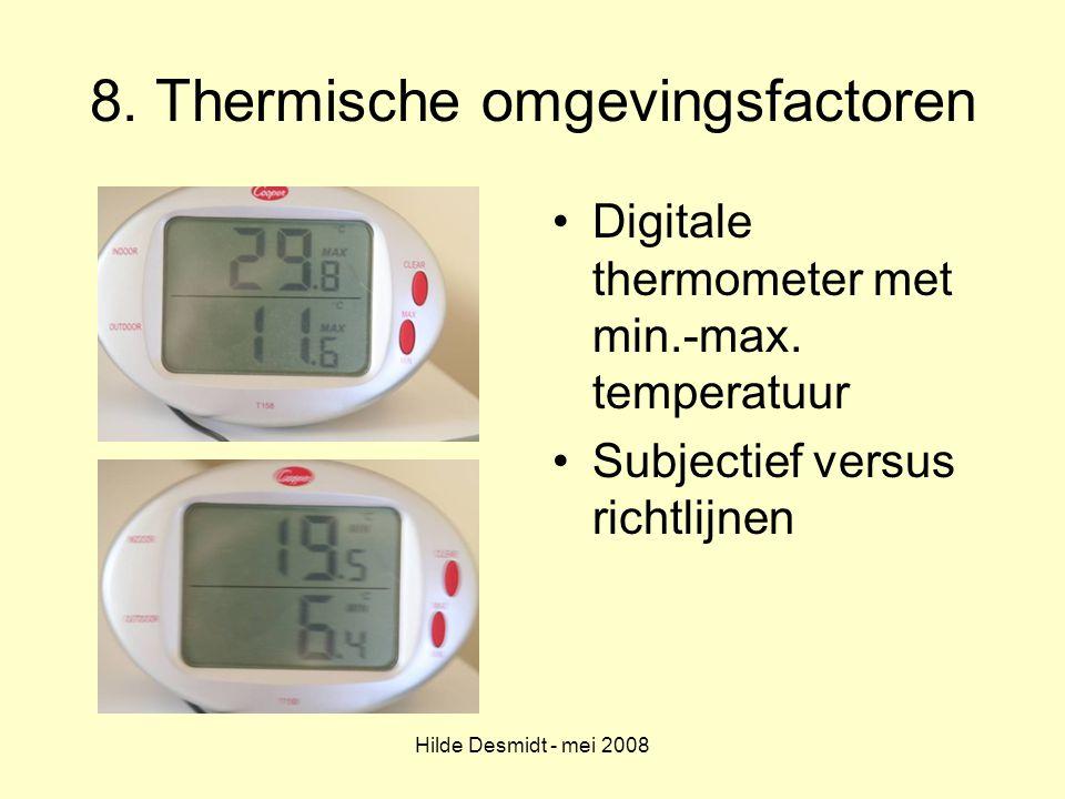 8. Thermische omgevingsfactoren