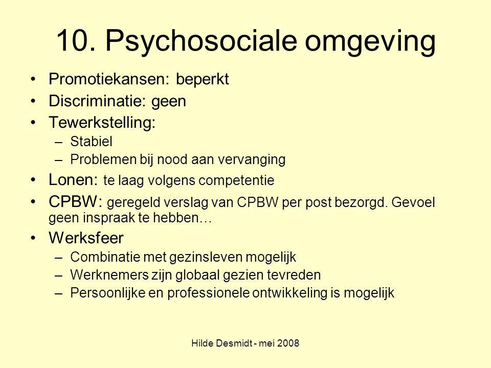 10. Psychosociale omgeving