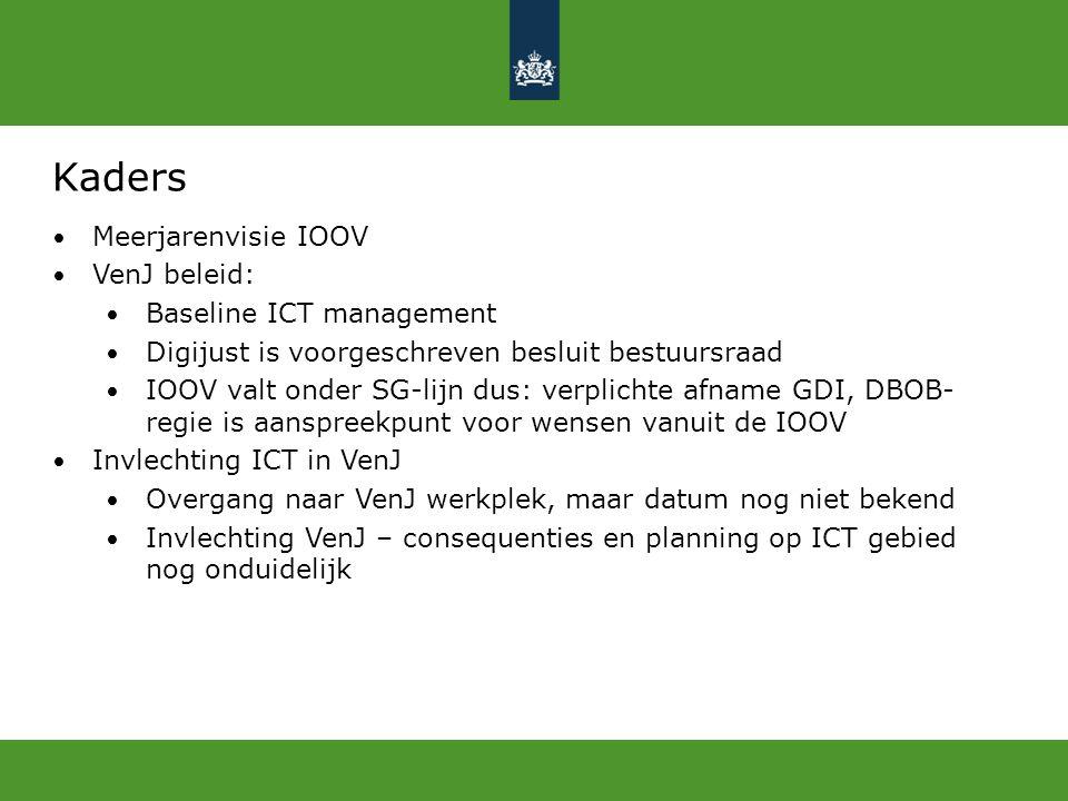 Kaders Meerjarenvisie IOOV VenJ beleid: Baseline ICT management